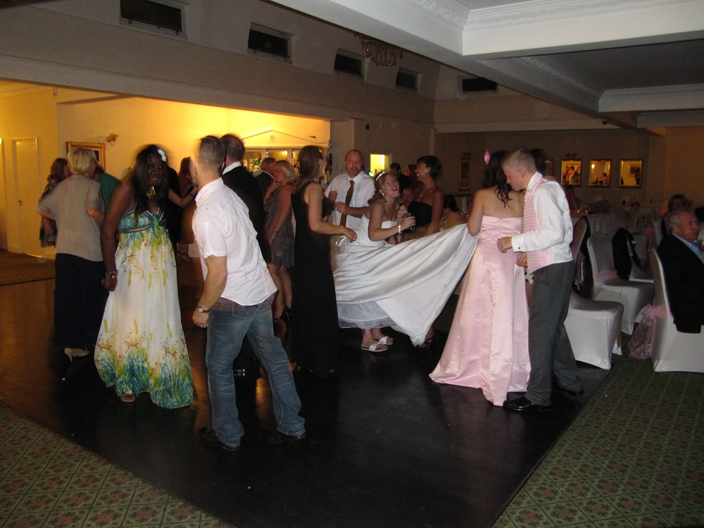 People Dancing at Wedding Party